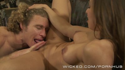 Wicked - Hot couple fuck on the couch