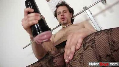 Huge hammer twink in tights