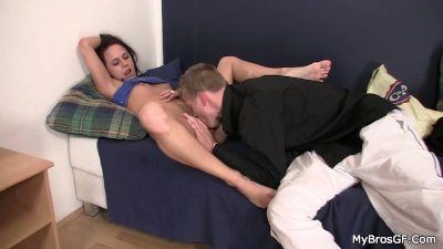 He is shocked after found her riding his bro's cock