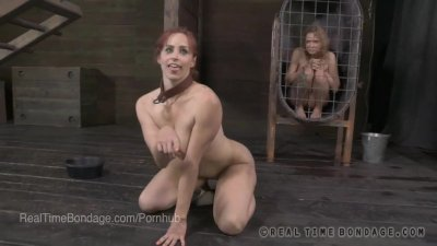 Puppy Girl Bella Rossi Humps Her Master's Leg