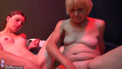 Old granny mature masturbae and licking young sexy girl