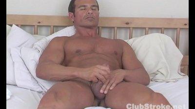 Muscular Straight Guy Rock Masturbating