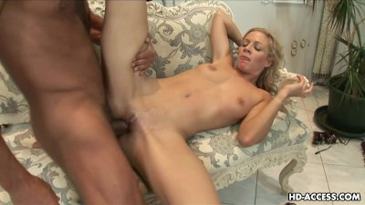 Blonde whore is on the dick sucking it then fucking