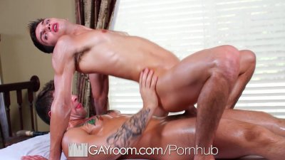 HD - GayRoom Remi gets asshole pounded by the pool