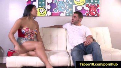 FetishNetwork Mia Li gives HJ to stepbros cock