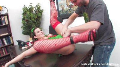 Natasha Nice Xmas Fuck in the Office
