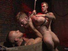 Demon Dick Dominates Helpless Hunk
