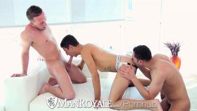 ManRoyale - Threeway Fuckfest with Billie Ramos Davey Anthony & Josh Nelson