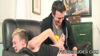 Hans Blan and Derrick Paul: Fetish Daddy Spanking A Bitchy Twink