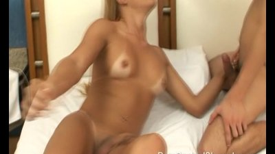 Huge Breasted Blonde Tranny Fucks Guy In Ass