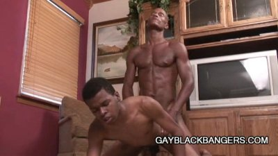 Hunky Black Guys Mesmerizing Anal Penetration