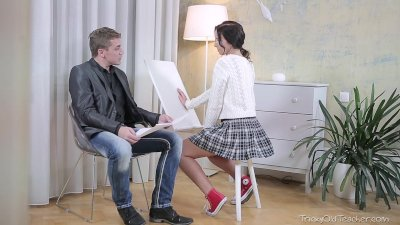 Tricky Old Teacher - Christy gets her tricky old teacher to play