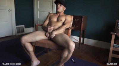 Muscle Stud Jacks Off