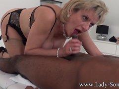 Lady Sonia black guy massage  handjob  blowjob and titjob   the works