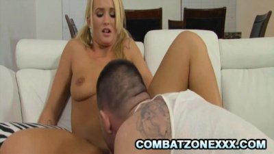 Emily Austin - Pigtailed Blonde Teenie Pleasing A Long Cock