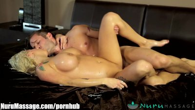 NuruMassage Vyxen Steel gives Slippery Favors