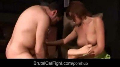 Blonde noisy slut hard spanked and fucked to stop