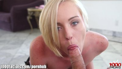 1000Facials BLONDIE Full of CREAM on her FACE