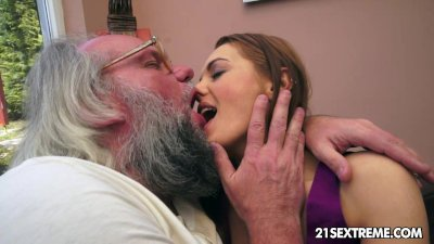 old man bangs dominica foxs tight young pussy