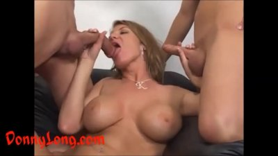 Donny Long gives huge cock anal and a DP to milf