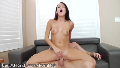 Megan Rain Rides dirty Daddy w