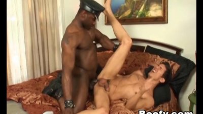 Muscular Black Gay Fucked on Home