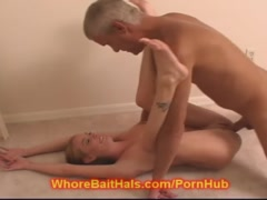 Taboo Daddy creams his TEEN Baby Sitter