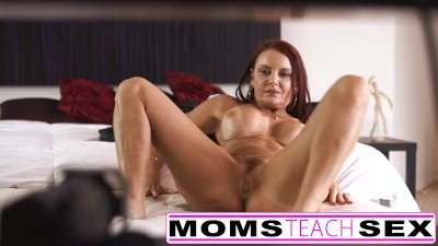 Step mom fucks son in hot threesome sex tape