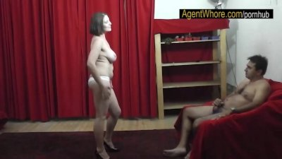 BUSTY MILF dances and does striptease show