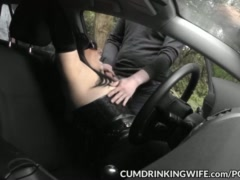 Car park gangbangs with Slutwife Marion