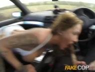 Fake Cop Anal slut gets cop cum in her butt