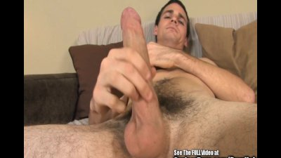 Thin Guy Gropes His Boner Beautifully