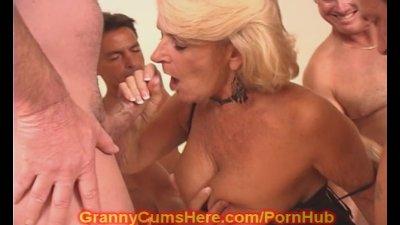 Blonde Milf Granny video: My Granny is a CUM SLUT