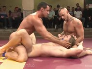Live Muscled Hunks Wrestling Match