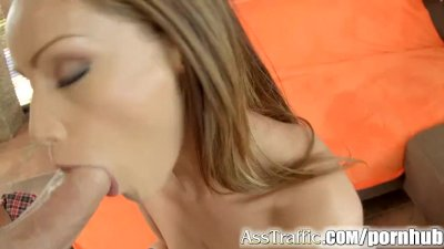 Sexy Sophie gets her ass fucked and swallows a big load of hot cum