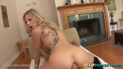 Blonde Blowjob Booty video: POVPerverts.net - Zoey Monroe Natural Blonde Slut Butt Fucked POV Style