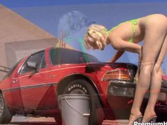 Lily Labeau bikini car wash and fucking