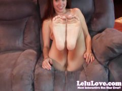 Lelu LoveRed Toenails Feet Jerkoff Encouragement