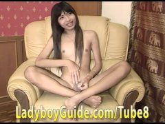 Thai Girly Boy With Uncut Dick Fucked And Loved