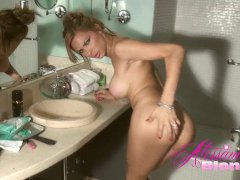 Alessandra Blonde in the shower
