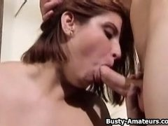 Helena sucking two cock on the same time