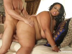 Busty Black British BBW Bangs Hung White Stud