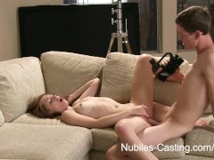 Nubiles Casting   Can he convince her to fuck on camera?