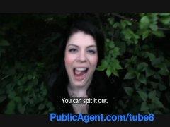 PublicAgent UK Underwear model fucked in the bushes in Prague