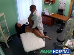 FakeHospital Teen model cums for tattoo removal doctor enjoys himself