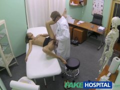 FakeHospital Hot girl with big tits gets doctors treatment before learning
