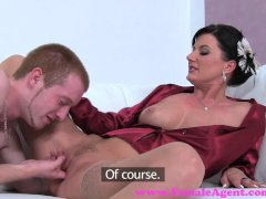 FemaleAgent  Sexy MILF agent teaches stud how to fuck