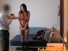 FakeAgent Sexy tanned amateur was built to Ride cock