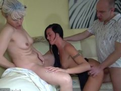 OldNanny Nice threesome  young couple is dealt with granny