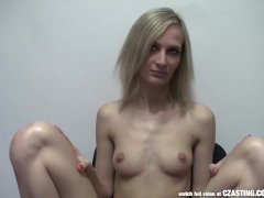 CZasting   Skinny Czech blonde at casting